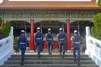 台北忠烈祠仪队交接仪式