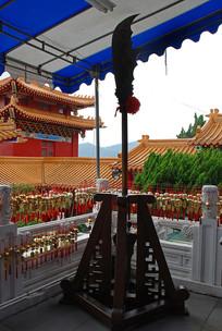 台湾武圣殿的青龙偃月刀