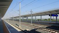 潍坊北站的铁轨