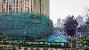 城市建筑施工现场
