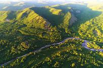 大兴安岭山林河流(航拍)