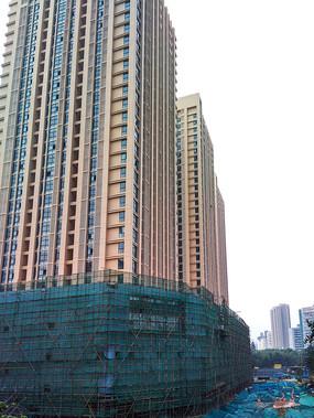 高楼大厦施工现场