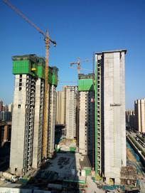 高楼建筑工地