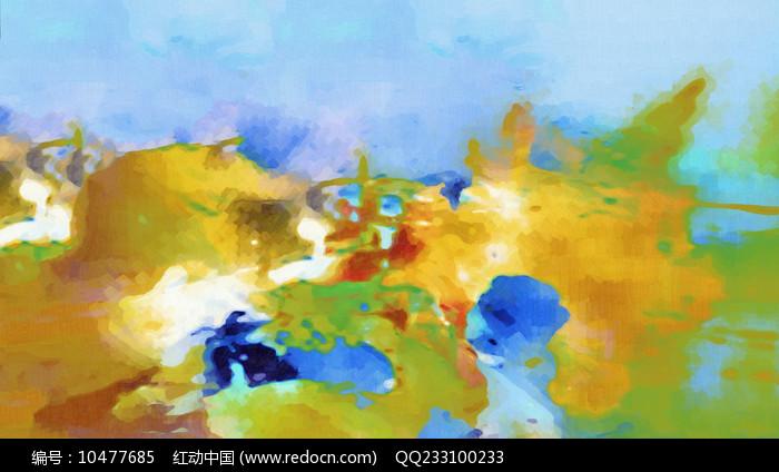 横幅现代抽象画图片