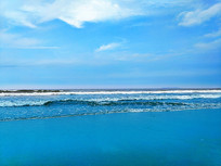 蓝色海滩风情