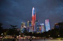 深圳市民中心高楼灯光秀