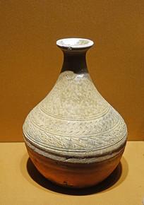 西汉文物釉陶壶