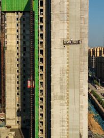 正在修建的高楼