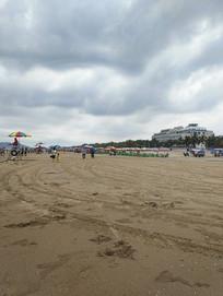 遮阳伞海滩风景