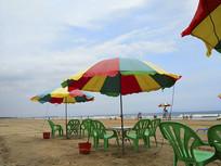 遮阳伞海滩美景