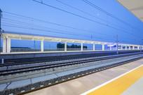 淄博临淄北站的高速铁路