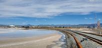 茶卡盐湖的自然风光