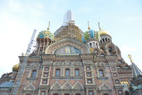 俄罗斯的滴血大教堂特写
