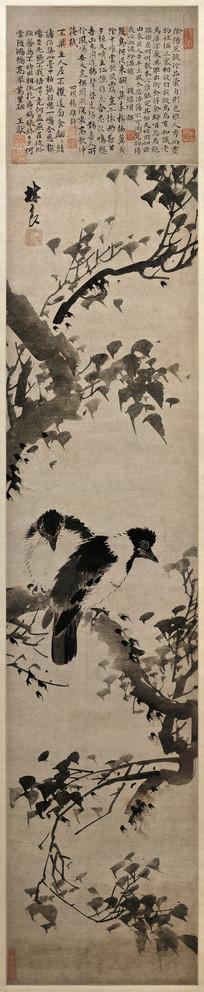 明代林良花鸟图轴