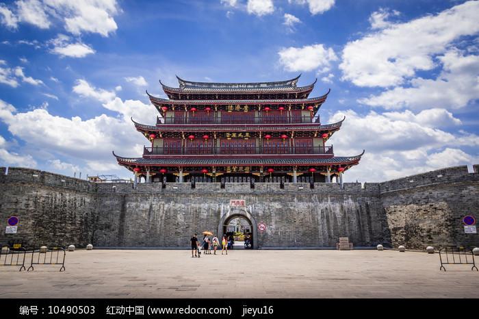 潮州古城墙广济门城楼外全景