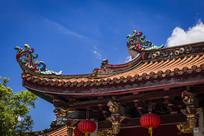 潮州开元寺进口右飞檐翘角图案