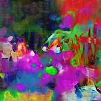抽象印花艺术画