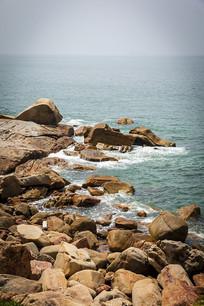 汕头南澳岛天仔景观海边礁石