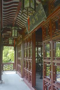 上海古猗园不可无竹居中式门窗
