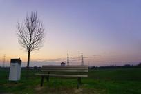 晨曦中的欧洲德国法兰克福郊外