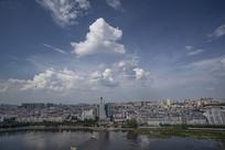 信阳市的蓝天白云