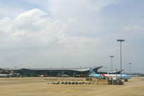 浙江省杭州萧山国际机场航站楼外景