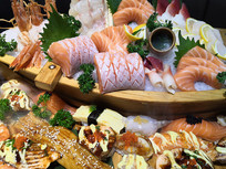 日式三文鱼刺身