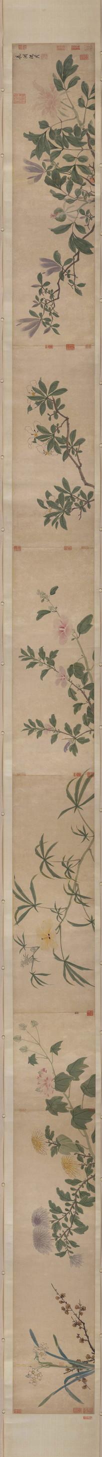 明代沈周四季花卉图卷