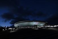 上海梅赛德斯奔驰文化中心夜景