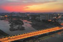 西关桥的黄昏