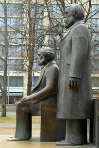 德国柏林马恩广场马克思雕像