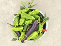 辣椒茄子蔬菜