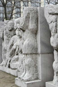 柏林马恩广场人物石刻浮雕