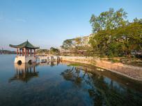 惠州西湖风景区的荔浦风清园林风光