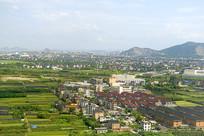 鸟瞰浙江省杭州萧山区城市建筑