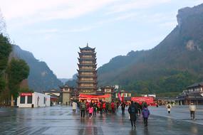 湖南张家界春节节日气氛