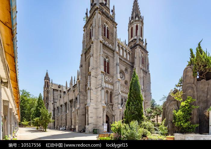 济南洪楼教堂建筑外观图片