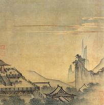 宋代马远雕台望云图