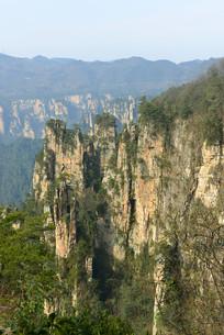 张家界武陵源砂岩峰林自然风景