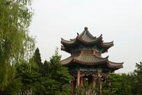 济南大明湖凉亭