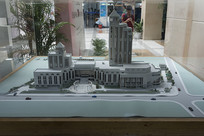 上海图书馆模型