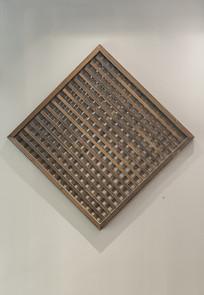 竹子编的菱形装饰挂件