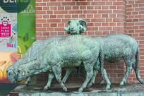 德国汉堡雕塑三只绵羊