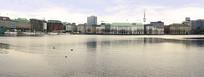 德国汉堡市城市湖泊阿尔斯特湖