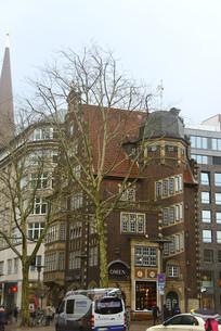 德国汉堡市城市街道及建筑