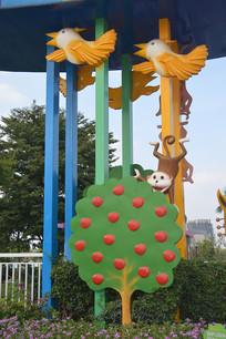 广州儿童公园动植物雕塑