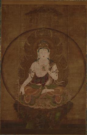 古代名画虚空藏菩萨像