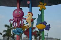 海洋生物雕塑