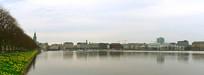 汉堡市城市湖泊阿尔斯特湖