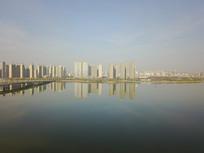 航拍城市高楼